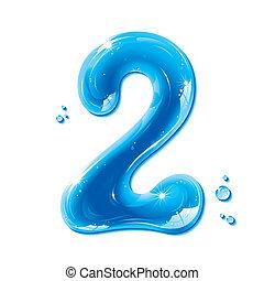 ábécé, folyékony, sorozat, -, szám, víz, 2