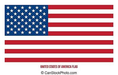 ábra, összehangol megállapít lobogó, amerika, vektor, háttér., fehér