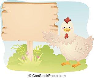 ábra, bizottság, csirke, gazdálkodás, madár, kabala