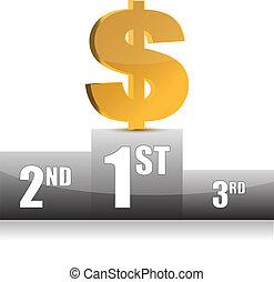 ábra, dollár, digitális, győz