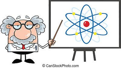 ábra, egyetemi tanár, atom