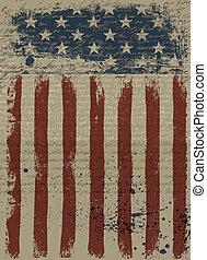 ábra, eps10., háttér., amerikai, vektor, hazafias, idős
