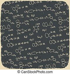ábra, eps10., háttér., vektor, retro, kémia