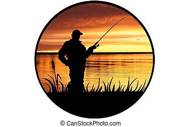 ábra, halász