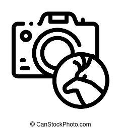 ábra, ikon, fényképezőgép, vektor, áttekintés, fénykép