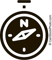 ábra, iránytű, vektor, glyph, ikon