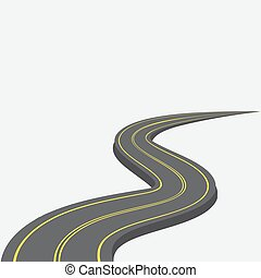 ábra, mintázat, sárga, 3d., hátráló, távolság., út