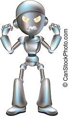 ábra, robot, mérges