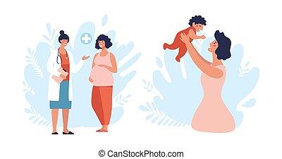 találkozó terhes nő