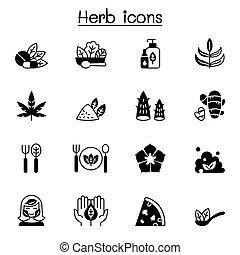 ábra, tervezés, grafikus, vektor, ikon, állhatatos, fűszernövény