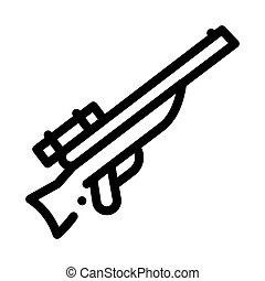 ábra, vadászat, vektor, áttekintés, pisztoly, ikon