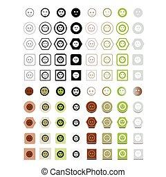 ábra, vektor, emoji, ikon
