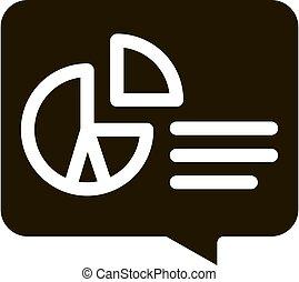 ábra, vektor, glyph, ikon, infographic