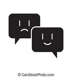 ábra, vektor, tervezés, csevegés, emoji, ikon