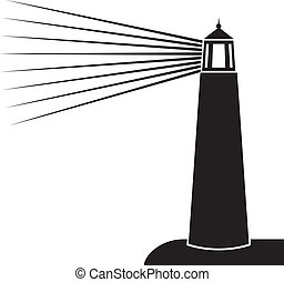 ábra, vektor, világítótorony