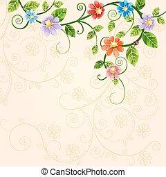 ábra, virágos