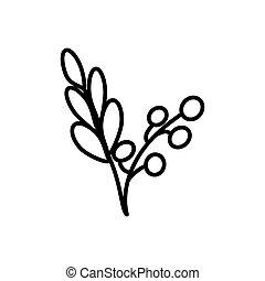 áfonya, ikon, egyenes, elszigetelt, white háttér