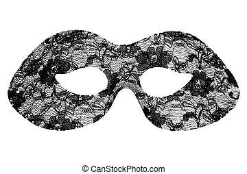 álarcos mulatság, fekete, maszk, befűz