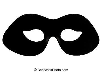 álarcos mulatság, fekete, maszk