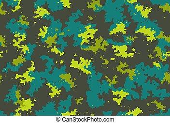 álcáz, álcázás, klasszikus, hadi, nyomtat, pattern., seamless, halászat, vadászat, tervezés, struktúra, wallpaper., szín, sárga, camo, háttér., vektor, nyersgyapjúszínű bezs, hadsereg, szerkezet, barna