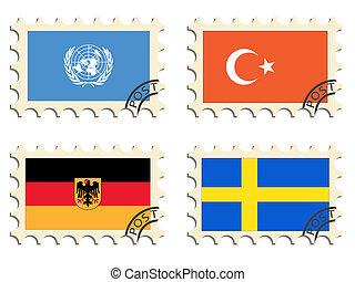 állás, topog, országok