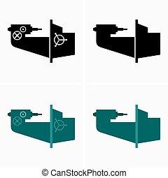 álló, gép, bírói szék, függőleges, fúrás