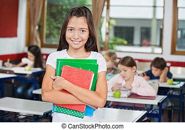 álló, időz, előjegyez, birtok, íróasztal, diáklány