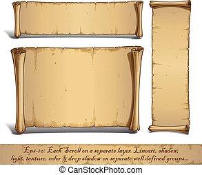 álló, vertically, karikatúra, cikornyázik, három