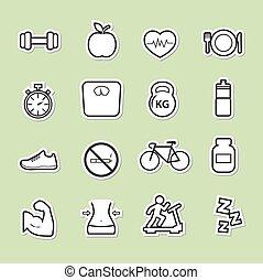állóképesség, egészség, ikon