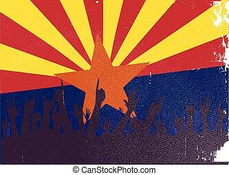 állam, arizona lobogó, kihallgatás