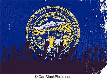 állam, nebraska lobogó, kihallgatás