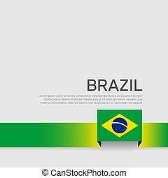 állam, szín, vektor, poster., repülő, fedő, szalag, hazafias, design., brazília, nemzeti, háttér., transzparens, lakás, white lobogó