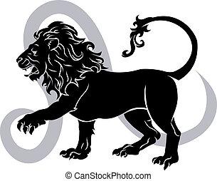 állatöv, horoscope cégtábla, oroszlán, asztrológia
