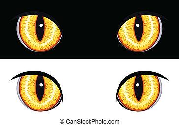 állat, szemek, rossz