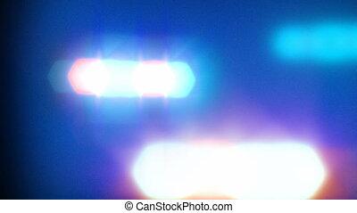állati tüdő, autó, rendőrség, villanás