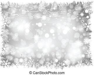 állati tüdő, ezüst, háttér, karácsony