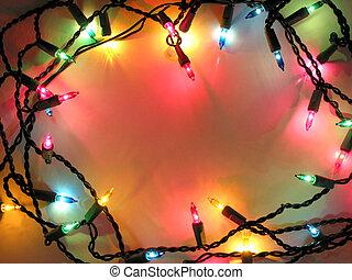 állati tüdő, keret, karácsony