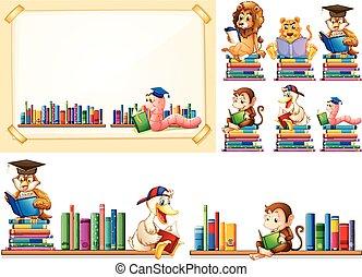 állatok, sok, keret, dolgozat, előjegyez, felolvasás