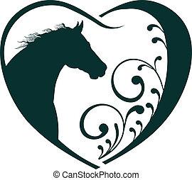 állatorvos, szív, ló, love.
