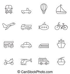 állhatatos, áttekintés, ábra, vektor, transpost, ikon