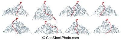 állhatatos, útvonal, hegy