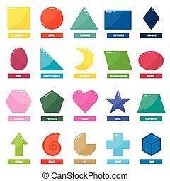 állhatatos, alapvető, geometric alakzat