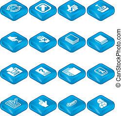 állhatatos, alkalmazásokat, ikon, sorozat