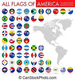 állhatatos, alphabetically, america., lobogó, zászlók, meglátogatott, karika, kerek