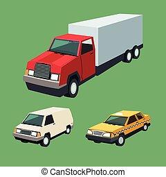 állhatatos, autó, garázs, tervezés, autó, csereüzlet