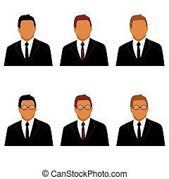 állhatatos, avatars, ember, illeszt