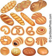 állhatatos, búza kenyér, fehér