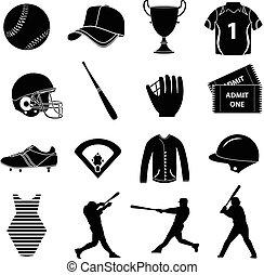 állhatatos, baseball, ikonok
