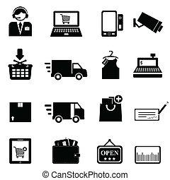 állhatatos, bevásárlás, ikon