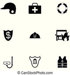 állhatatos, biztonság, ikon